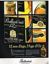 Publicité Advertising 1986 Scotch Whisky Ballantine's 12 ans d'age