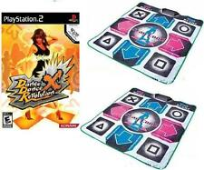 Dance Dance Revolution X DDR X + 2x PS2 Dance Pads Mats