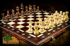 CHESS SET ROSEWOOD STAUNTON - 41cm / 16.2in Wooden Handcrafted Beautiful