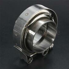 2'' 2 inch Turbo Exhaust Down Pipe Stainless Steel #304 V-Band Clamp + 2 Flange