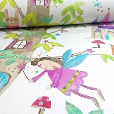 WOODLAND FAIRIES GLITTER WALLPAPER - WHITE - ARTHOUSE 667001 - NEW