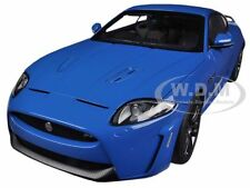 JAGUAR XKR-S FRENCH RACING BLUE 1/18 DIECAST MODEL CAR BY AUTOART 73641