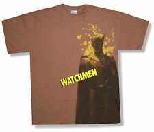 THE WATCHMEN - NITE OWL BROWN SPLATTER T-SHIRT MOVIE NEW OFFICIAL ADULT L