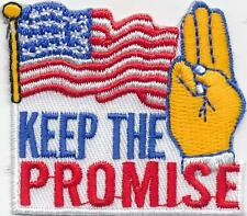 Girl KEEP THE PROMISE Fun Patches Crests Badge SCOUT GUIDE flag Remember Say