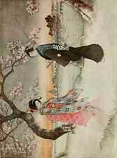 A4 Photo Ozaki Yukio Ghostly girl Romances of Old Japan 1920 Print Poster