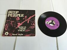 """DEEP PURPLE Woman From Tokyo French 7"""" picture sleeve Purple Records 1973 EX/VG"""