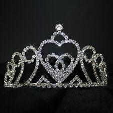 rhinestone coronet Tiara Bridal jewelry Wedding Hairband 8