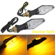 2pc 9 Amber LED 3528 SMD Motorcycle Double Turn Signals Blinker Indicators light
