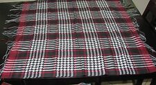 """Houndstooth Plaid Square Pashmina Scarf 36""""x36"""" New With Tags"""