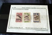 SPANISH MOROCCO 1946 IBERIA AIRLINES MINT CHARITY ISSUE, ALL 3 VALUES