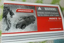 Transformers UNIVERSE IRONHIDE INSTRUCTION BOOKLET ONLY GREAT CONDITION