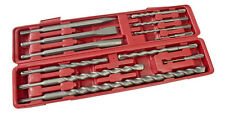 Am-Tech Professonal 12 Pc SDS Chisel and Drill Bit Set 5 - 20mm Blow Case New