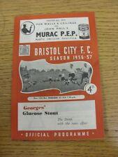 12/11/1956 Bristol City V gerentes XI [Beneficio Fund] (plegado, arrugada). gracias F