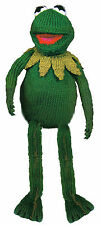 "15"" KERMIT  TOY/ DOLL. TO KNIT,  DK   LAMINATED KNITTING PATTERN  MUPPETS  8334"