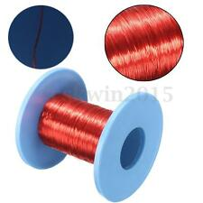 100m Red Magnet Wire Dia. 0.2mm Enameled Copper Wire Round Coil Winding Wires