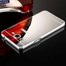 Luxury Aluminum Metal Mirror Case PC Back Cover Skin For Samsung Galaxy iPhone