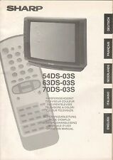 Sharp 54ds-03s 63ds-03s 70ds-03s - manual de instrucciones manual-b1962