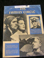 VINTAGE~THE FAMILY CIRCLE Dec 4, 1942~Tyrone Power~Maureen O'Hara~*RARE MAGAZINE