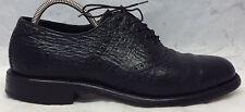 FOOTJOY Classics Size 9.5 B/D Exotic Shark Skin Saddle Oxford Black Dress Shoes