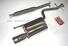 Manzo Stainless Steel Catback Muffler Exhaust Fits Lexus IS300 01 - 05 Sedan