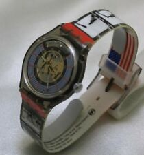 BNew 1996 ATLANTA autograph by Edwin Moses Olympic Legends Swatch model SAZ-106