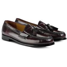 NEW Mens Burgundy Leather COLE HAAN Pinch Tassel Loafers Slip On Shoes Size 11 D