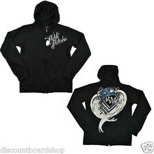 Metal Mulisha CRAZY ZIP FLEECE Black White Zip Up Junior's Hoodie Sweatshirt