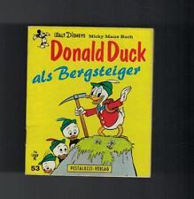 Donald Duck als Bergsteiger - Walt Disney Micky Maus Buch Pestalozzi-Ver. - 1973