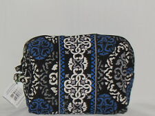 "Vera Bradley ""CANTERBERRY COBALT"" Large Cosmetic New With Tags"