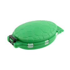 12 Compartments Turtle Fishing Lure Hooks Storage Tackle Case Box Pocket Green