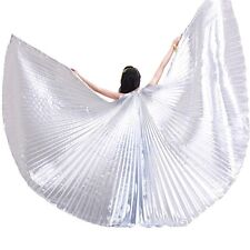 Egyptian Egypt Belly Dance Costume Shining ISIS WINGS Dance Wear Solid Colours