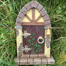 Fairy Door Garden Decoration With Arched Magical Stonework  Elf Pixie 39156