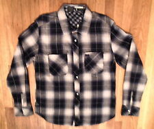 NWT TOKYO FIVE, Long Sleeve Shirt, Black/Beige Plaid, Sz XL 100% Cotton (14)