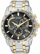 NEW CITIZEN AT4004-52E MENS ECO- DRIVE TWO TONE PERPETUAL CALENDAR ATOMIC BLACK
