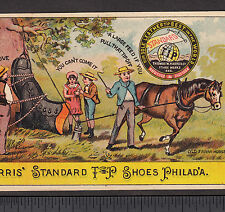 New Holstein WI Farm Horse Fantasy Harris Shoe Philadelphia Advertising Card