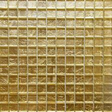 Gold Glass Mosaic Tile [pack of 5 sheets]