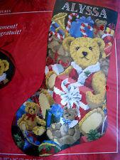 Needle Treasures Christmas Holiday Needlepoint Stocking Kit,TOY TEDDIES,06905
