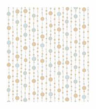 Candice Olson Kids Sparkle Beaded Curtain in Gold and Silver Wallpaper CK7759