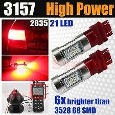 2X 3157 Dual Function High Power 2835 LED Turn Signal/Tail Brake Red Light Bulbs