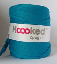 Hoooked Zpagetti T-Shirt Jersey Hilo 120m hacer Punto Lana Turquesa