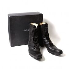 Yohji Yamamoto POUR HOMME Side zip leather boots Size US About 13(K-47529)