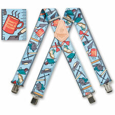 "Tommy Walsh Mens Braces Heavy Duty Suspenders 2"" 50mm Wide Tools Braces"
