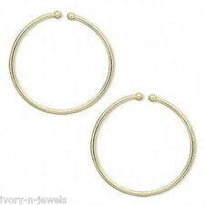 NON PIERCED 25mm HOOPS Gold Plated Perfect for Charms 4 Ear Nose or Lip
