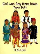 Girl and Boy from India Paper Dolls-ExLibrary