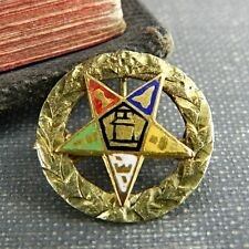 Antique Order of the Eastern Star 10K Gold Masonic Pin
