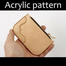 Laser cut Acrylic template, PMMA pattern, coin purse template, A-64