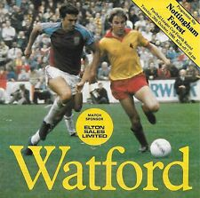 Football Programme>WATFORD v NOTTINGHAM FOREST Oct 1980 FLC