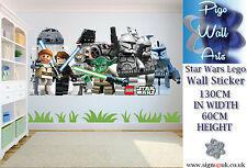 Star Wars Lego Extra Large wall sticker Childrens Bedroom wall art sticker BIG