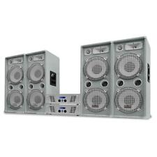 4000W DISCO DJ KARAOKE PARTY SET 4x TOWER SPEAKERS PA AMPLIFIER WHITE *FREE P&P