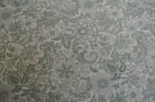NEW GEORGE SMITH BENNISON FLEUR LINEN FABRIC VINTAGE 1930/40s SAGE & MINT FRENCH